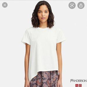 JW Anderson Asymmetrical T-shirts Pink/White XS